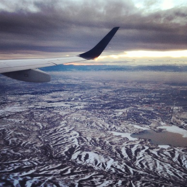I flew into Austin from Nashville (Via Denver) on Tuesday afternoon. I couldn't resist this sky shot as my plane was leaving Denver! I went from 30 degrees and snow to 80 degrees and not a cloud in the sky…in beautiful Austin, TX.