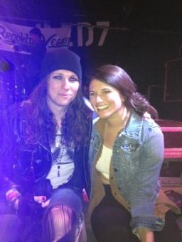Our friend Jordan with Laura Jane Grace of Against Me!