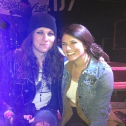 Our friend Jordan with Laura Jane Grace of Against Me!