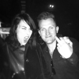 Nat with Dee Dee from The Dum Dum Girls