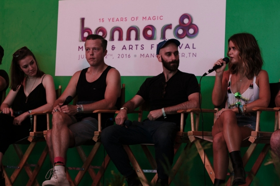Margaret Glaspy, Jason Isbell, some guy from X Ambassadors and Maren Morris on the media panel