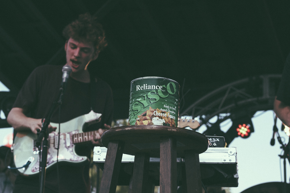 Sun Club and a can of cheese sauce at Who Stage on Sunday
